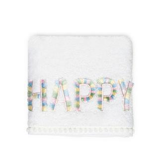 Nuvomon Happy Çocuk Havlusu - Beyaz - 30x50 cm