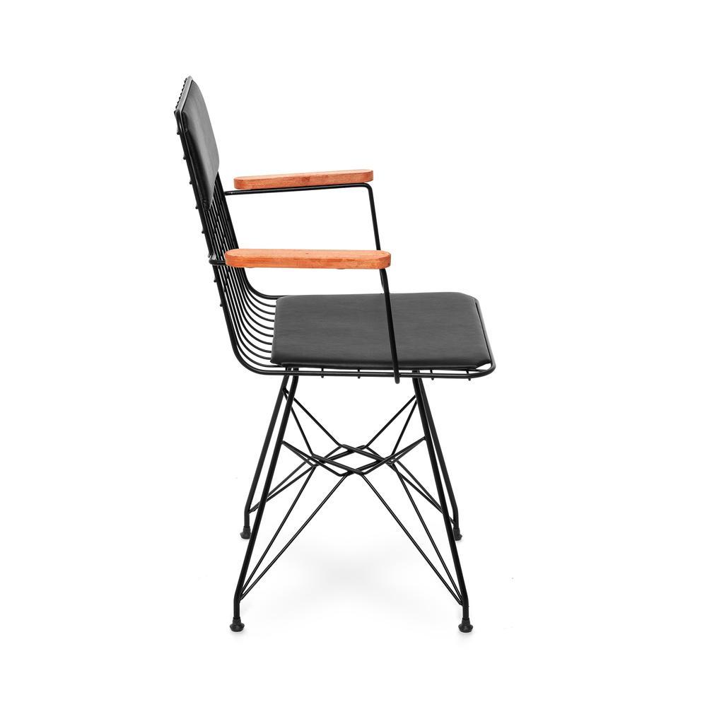 Akın LüxKollu Sandalye - Siyah / Siyah