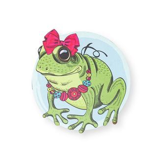 Myros Frog Ahşap Bardak Altlığı Magnet