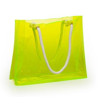 Funny Design Funbag Neon Plaj Çantası - Sarı