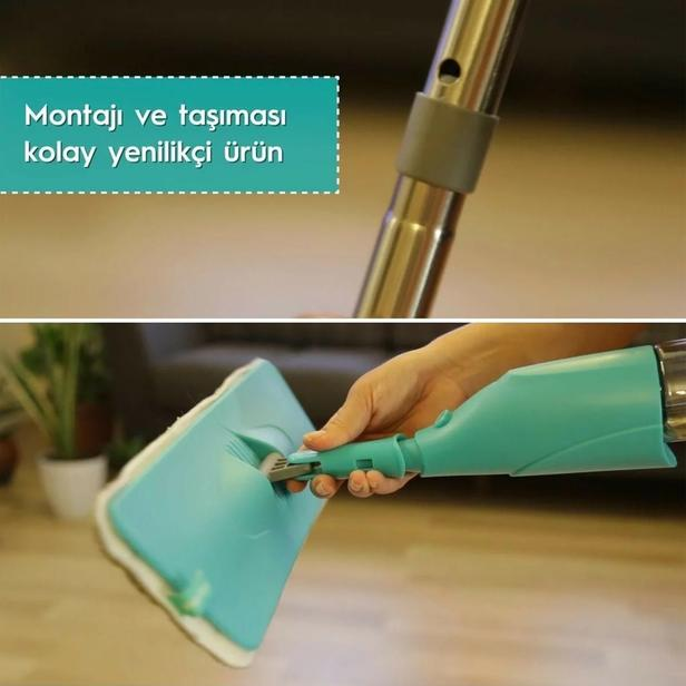 Smarter Shiny Sprey Mop - Yedek Mop Hediyeli