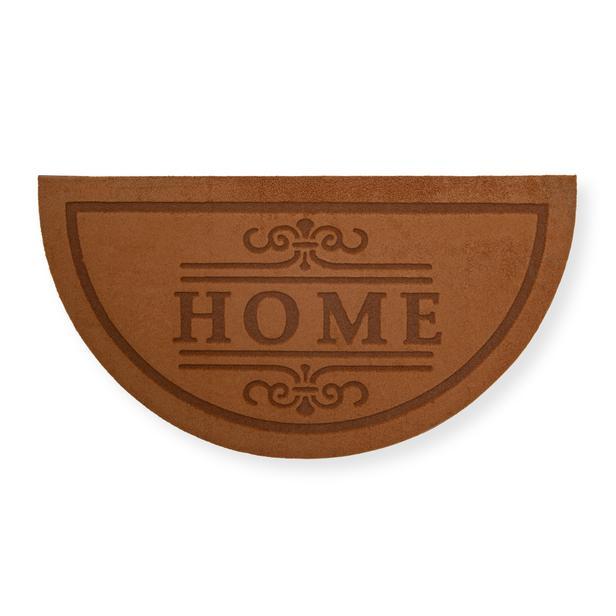 Giz Home Parga Yarımay Kapı Paspası (Kahverengi) - 40x75 cm