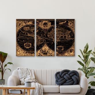 Q-Art 3 Parça 90x60 cm Kanvas Tablo Seti