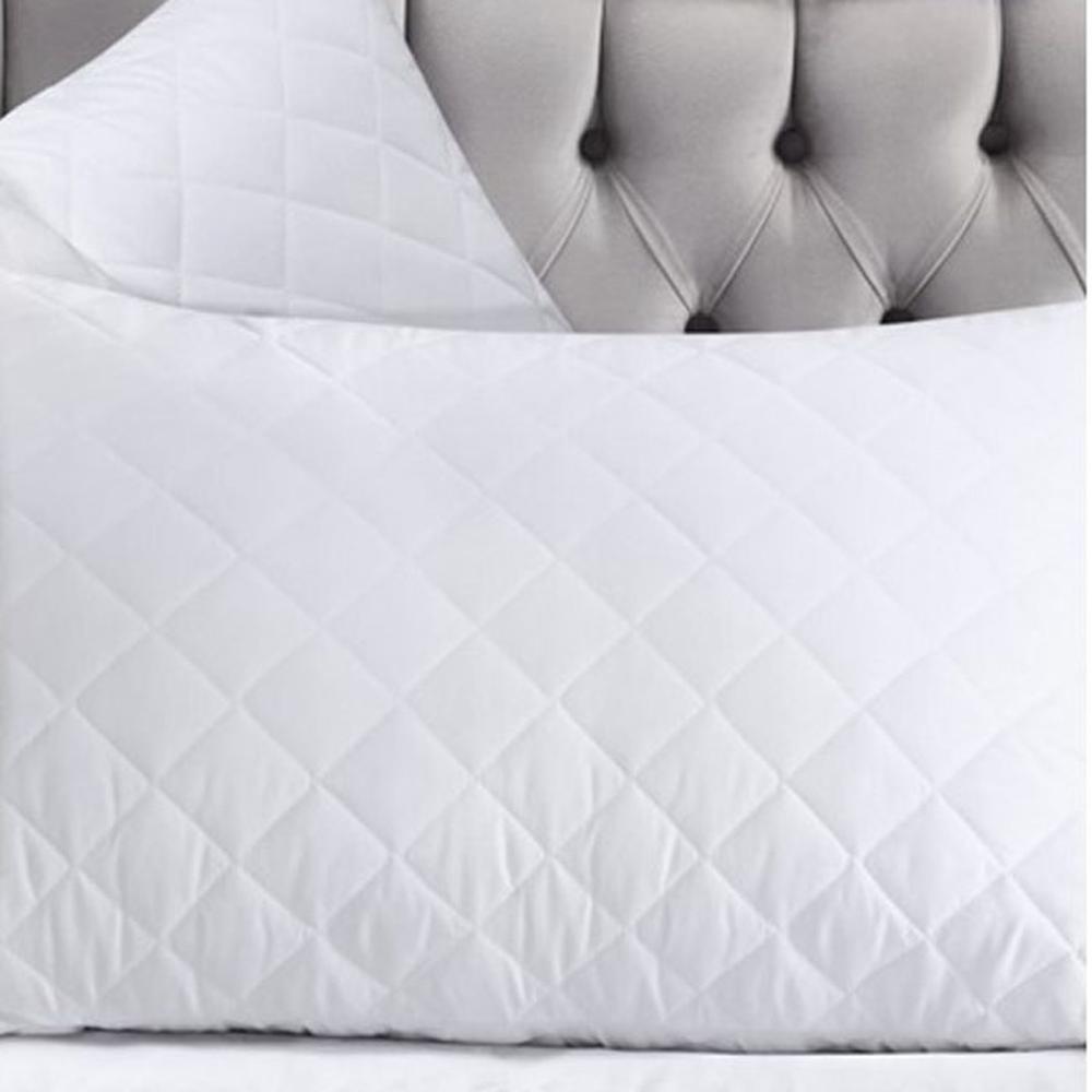 Mislina Kapitoneli Yastık Alezi - Beyaz - 50x70 cm