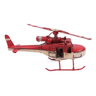 Mnk Home Helikopter Metal Biblo