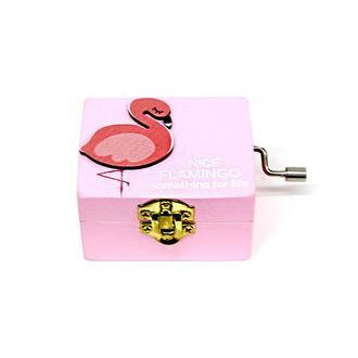Self Design Flamingo Ahşap Müzik Kutusu