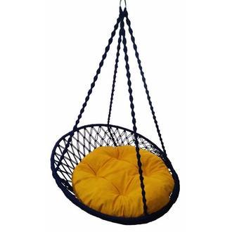 Altınoluk Relaks Salıncak - Lacivert (Sarı Minderli)