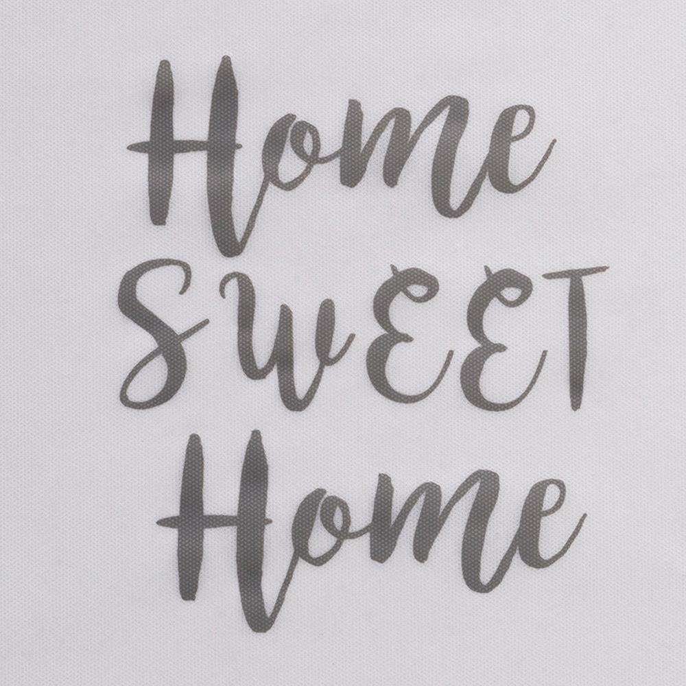 Ocean Home Büyük Boy Gri Çizgili Home Sweet Home Baskılı Hurç - 64x41x35 cm