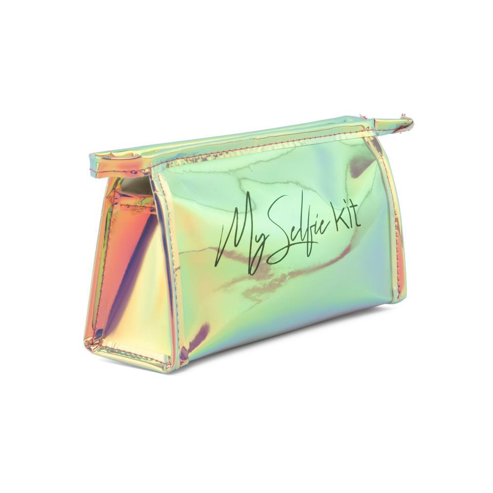 MMC Ayna Hologram Biyeli Kozmetik Çantası - Buz Mavisi
