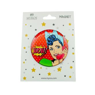 Myros 603 Pop Art Yuvarlak Magnet