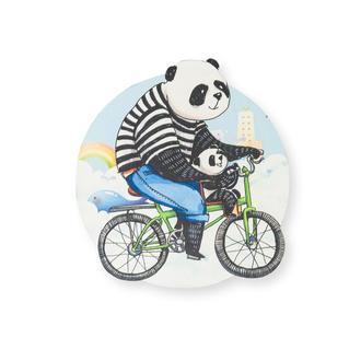 Myros Panda Ahşap Bardak Altlığı Magnet