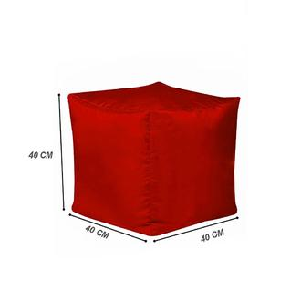 Armutpark Küp Puf Minder - (Kırmızı)