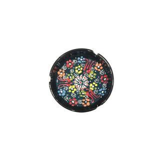 Myros Dekorlu Çini Küllük (Koyu Yeşil) - 10 cm
