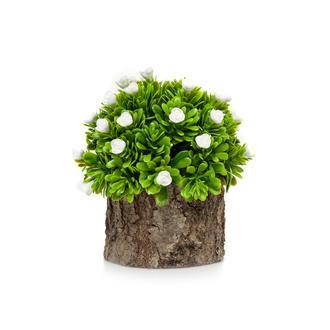 Mondecor Kütük Saksıda Güllü Şimşir Yapay Çiçek