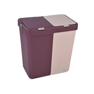 Motek Duo Laundry Çamaşır Sepeti (Mor/Lila) - 80 Litre
