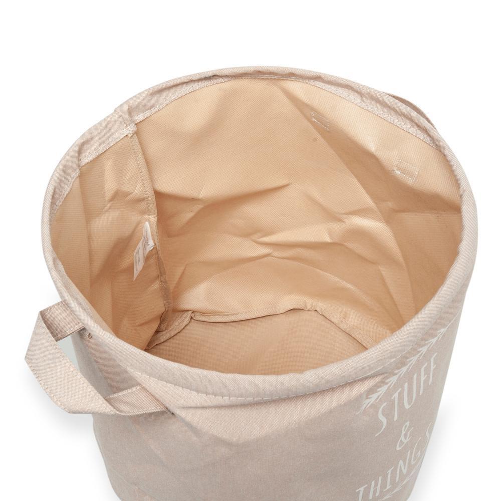 Ocean Home Baskılı Çok Amaçlı Sepet (Bej) - 30x31 cm