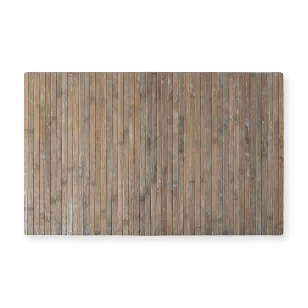 Lorin Bambu Ha1090c Kaymaz Tabalı Paspas (Açık Gri) - 50x80 cm