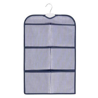 Ocean Home Mavi Çizgili Askılı Organizer - 38x59 cm