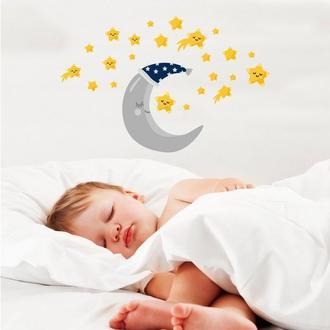 Artikel Ay ve Yıldızlar Sticker - 50x70 cm