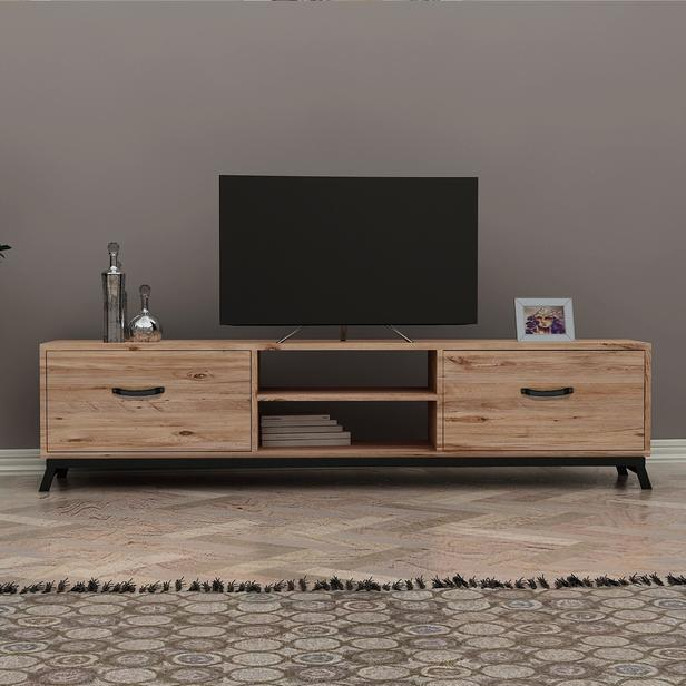 Just Home Lidya Retro Tv Ünitesi - Atlantik Çam - 180 cm