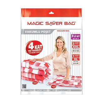 Magic Saver Bag Vakumlu 3'lü Saklama Torbası