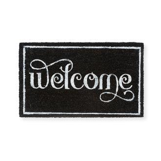 Giz Home Koko Hello Siyah Welcome Kapı Önü Paspası - 45x75 cm