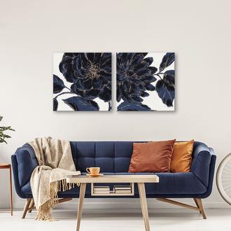 Q-Art 60x60 cm Varak Kabartmalı Kanvas Tablo Seti