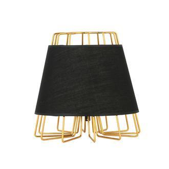 Nisa Luce Style Abajur-Altın/Siyah
