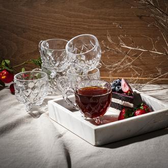 İpek Ayaklı 6' lı Çay Fincanı