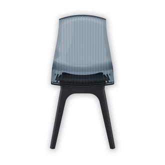 Siesta Allegra-PP Sandalyesi - Siyah / Siyah Transparan