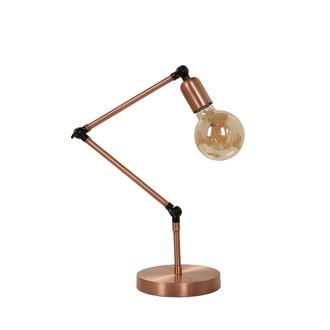 Lumexx Yonca Metal Düz Masa Lambası - Bakır