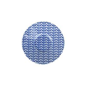Porland Blue Desen 5 Ergonomik Çay Tabağı - Mavi / 11 cm