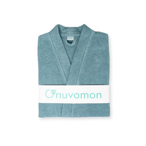 Nuvomon Plain Kadın Kimono Bornoz - Turkuaz - S / M