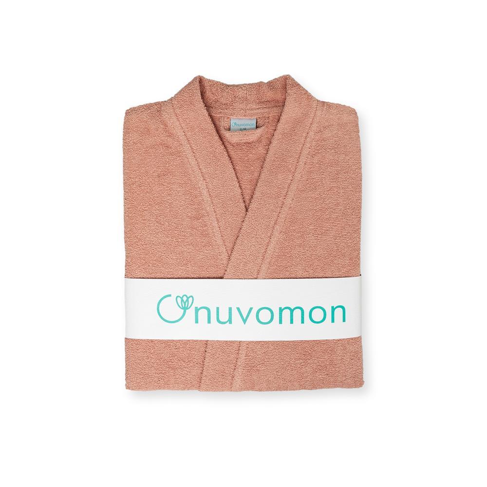 Nuvomon Plain Kadın Kimono Bornoz - Pudra - L/XL