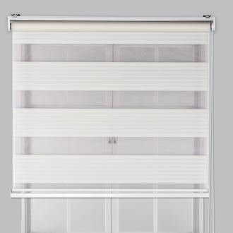 Lekuer Pliseli Zebra Perde (Beyaz) - 100x200 cm