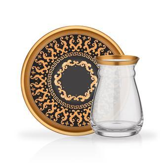 Glore Alia 12 Parça Çay Seti - Gold