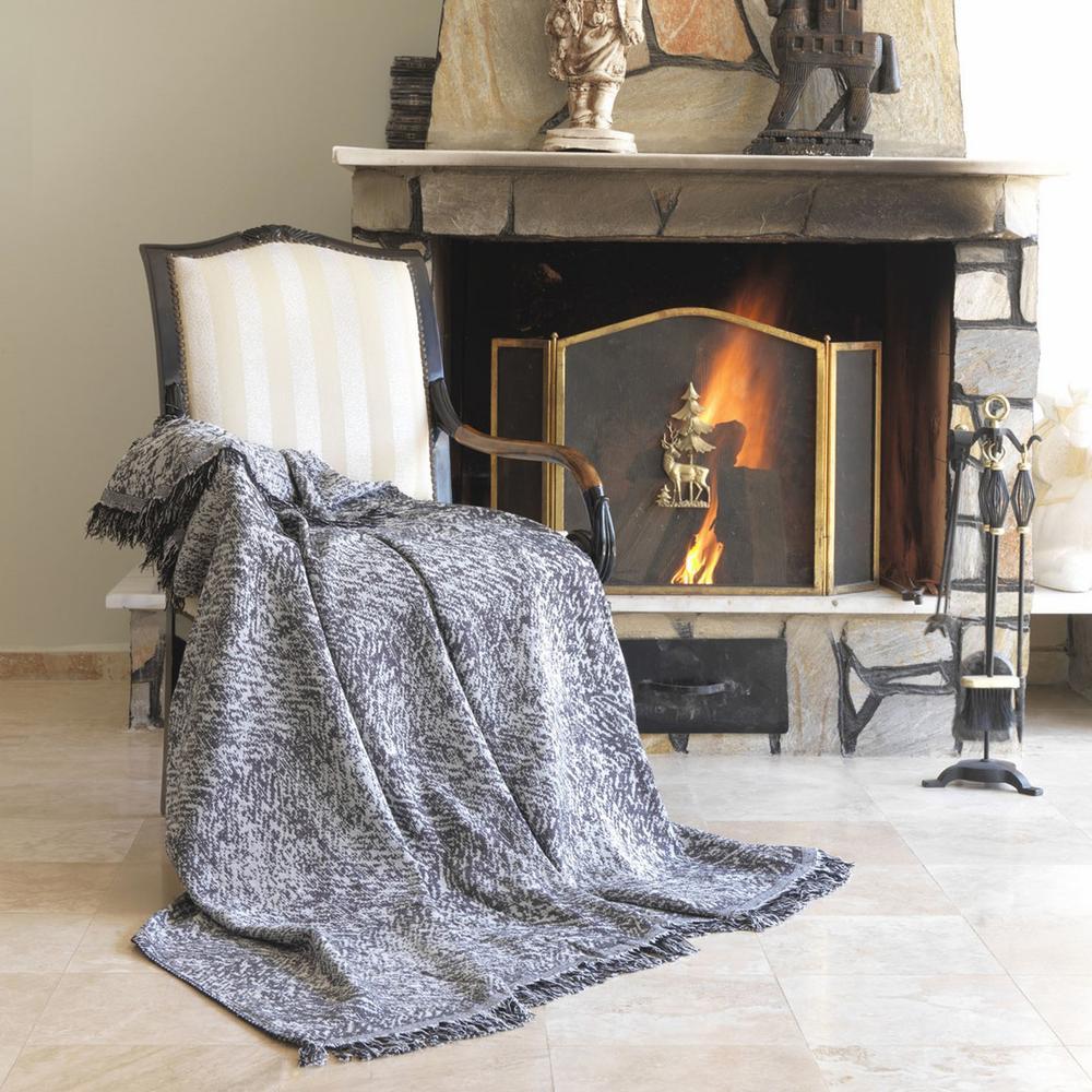 Eponj Home Linen Keten Koltuk Örtüsü (Siyah) - 170x220 cm