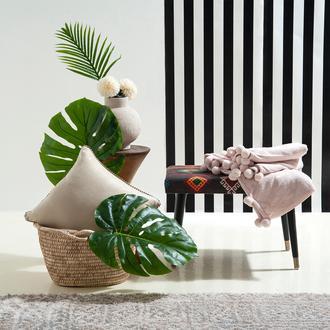 Giz Home Carmel Koltuk Şalı (Pudra) - 130x170 cm