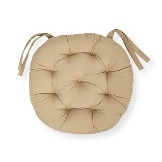 Iris Home Sandalye Minderi Yuvarlak 43 cm - Camel