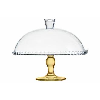 Paşabahçe 95200 Ayaklı Kapaklı Fanus (Gold) - 32 cm