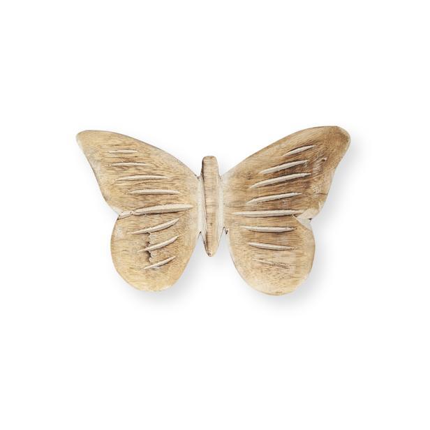 Q-Art Ahşap Kelebek - 20 cm