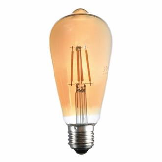 Lambam St64 Bal Camlı 4W E27 2700K Gün Işığı Led Ampul