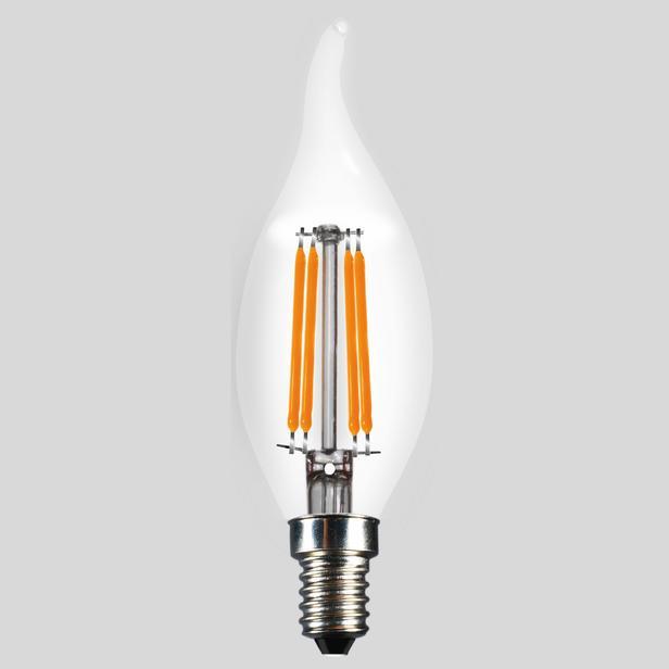 Lambam Kıvrık Uç C35 4W E14 2700K Gün Işığı Ampul