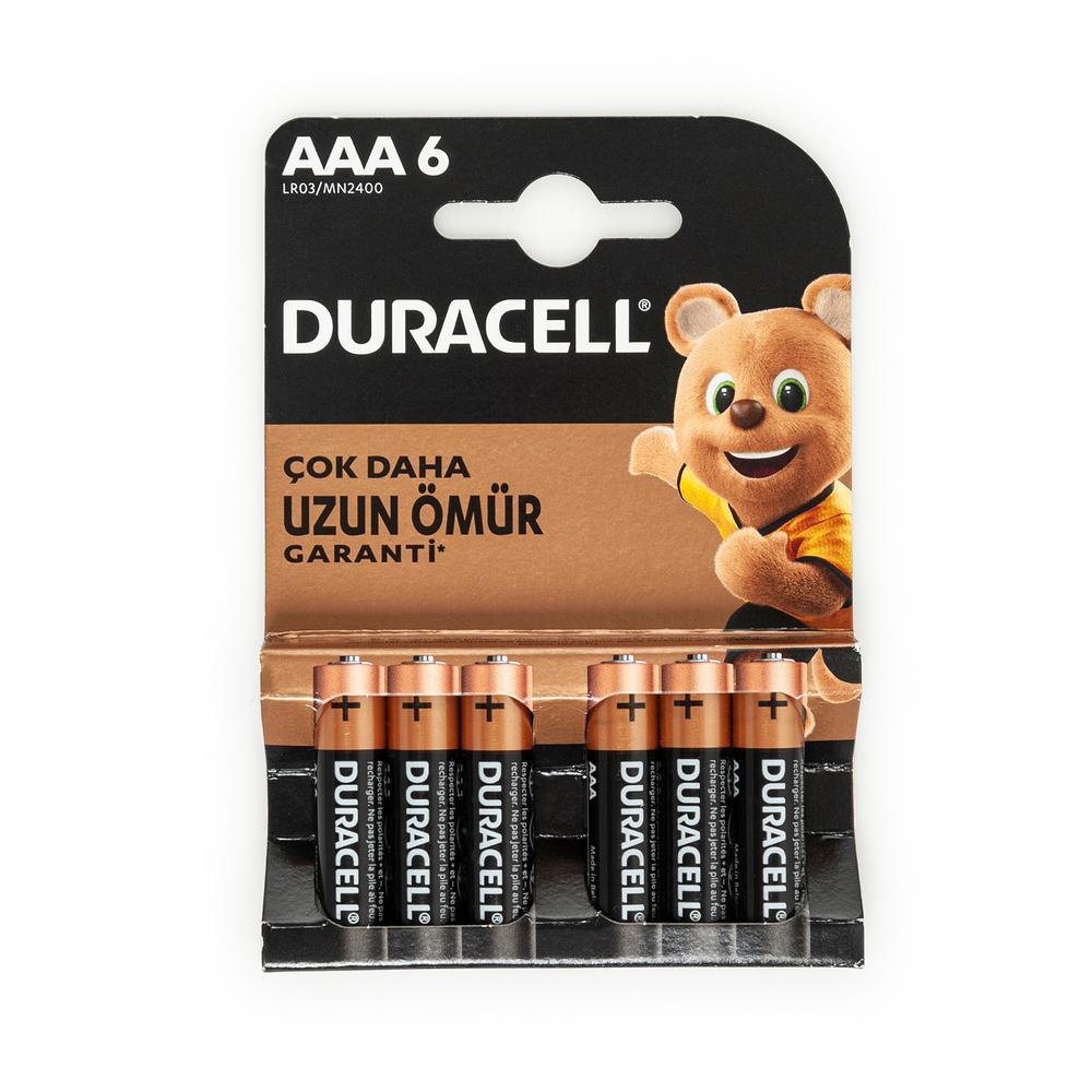 Duracell Basic İnce 6'lı AAA Kalem Pil