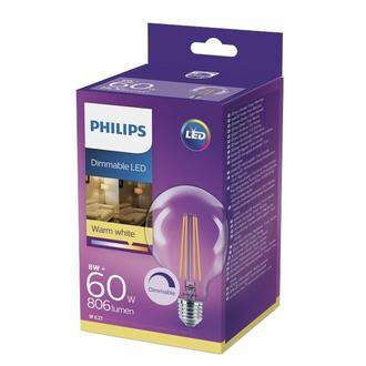 Philips G93 Led Classic 60W E27 Dim Edilebilir 2700K Sarı Işık Ampul