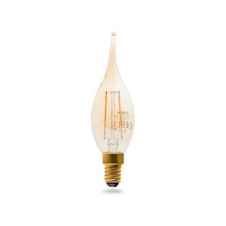Osram C35 2,5W Vintage 1906 Led Cl Ba Fıl Gold 22 +Al1819+Al1833 Sarı Işık Ampul