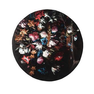 Giz Home Norma NR04 Flower Yuvarlak Halı 120 cm - Siyah