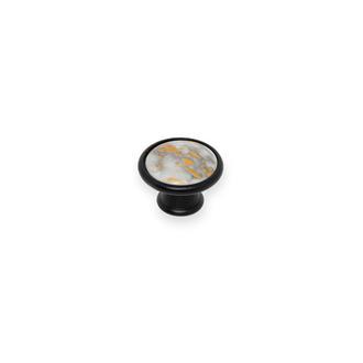 Esal Yıldız Göreme D57 Siyah Mermer Düğme Kulp
