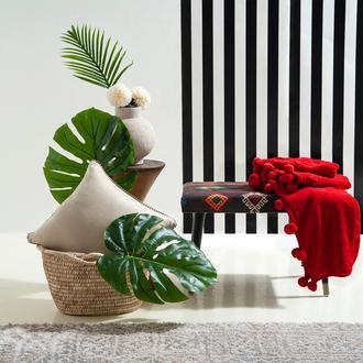 Giz Home Carmel Koltuk Şalı (Kırmızı) - 130x170 cm