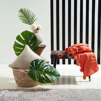 Giz Home Carmel Koltuk Şalı (Turuncu) - 130x170 cm